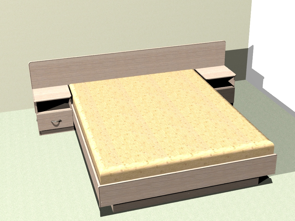 Проект кровати двуспальной