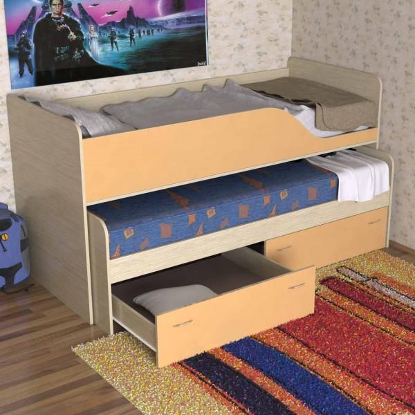 Раздвижная (выкатная) кровать для двух детей