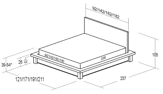 Схема кровати из дсп