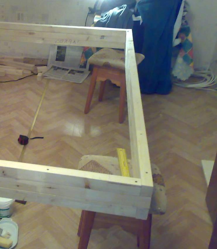 Создаем коробку кровати