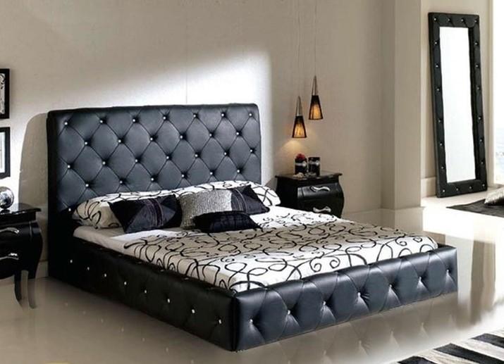 Стеганые красивые кровати двуспальные