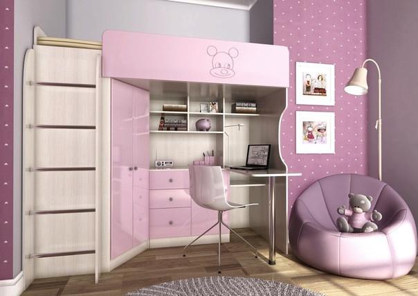 Светлые оттенки мебели фиолетового цвета