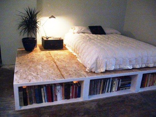 Традиционный вариант кровати-подиума