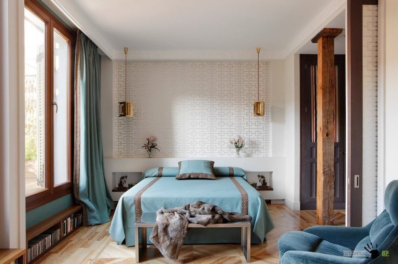 Удобная односпальная кровать в интерьере