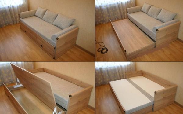 Устройство кровати для сна