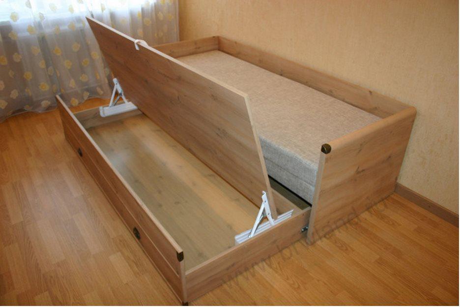 Устройство современной кровати раздвижного типа