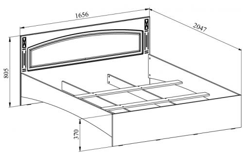 Вариант чертежа двухспальной кровати из ДСП