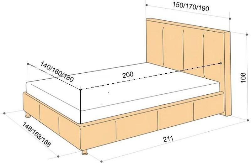 Встречающиеся размеры односпальной кровати