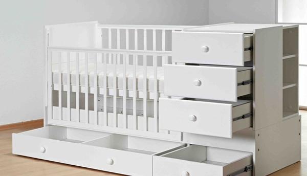 Встроенные ящики в кроватку для ребенка
