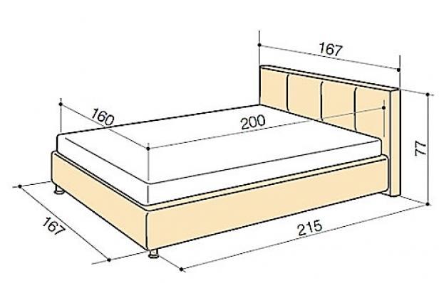 Выбор параметров полуторной мебели