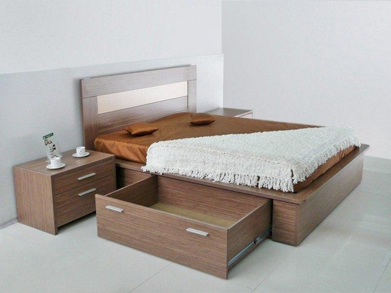 Ящики в современной мебели для сна