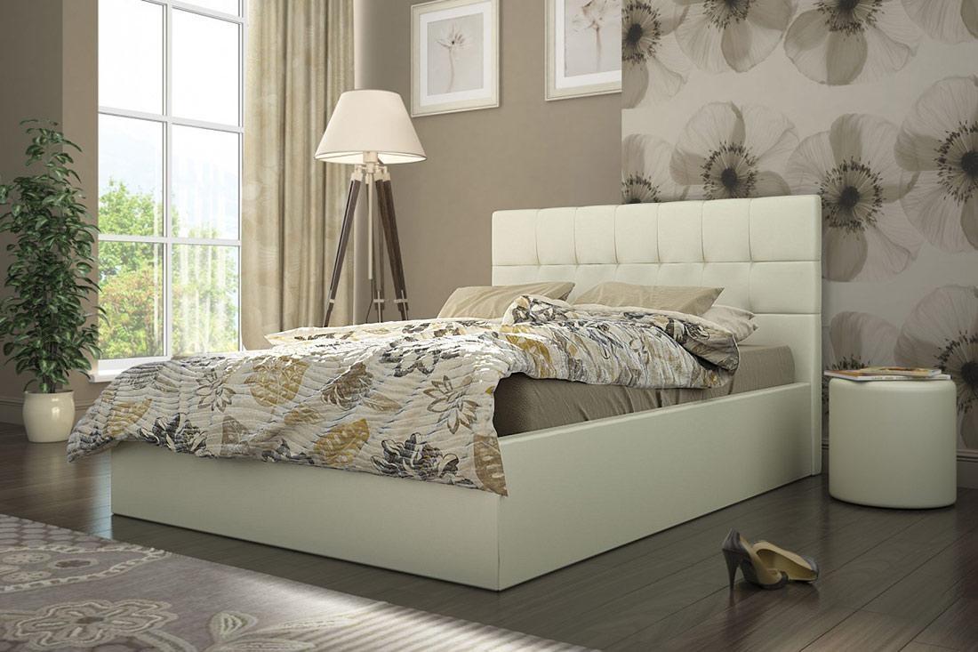 Кровать кремовая