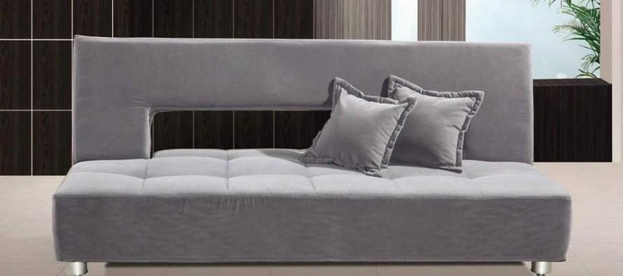 Кожаный диван кровать с ортопедическим матрасом