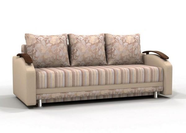 Красивый трехместный диван с подушками
