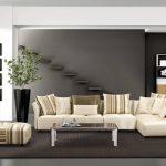 Кремовый мягкий диван