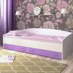 Кровать для девочки с ящиками