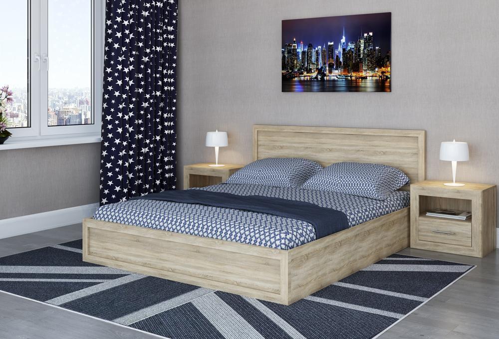 Кровать с подушками