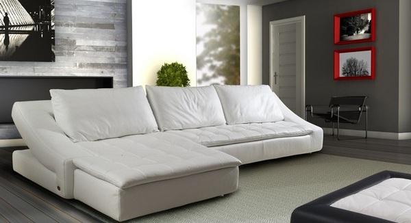 Белый современный диван