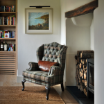 Английское кресло в интерьере