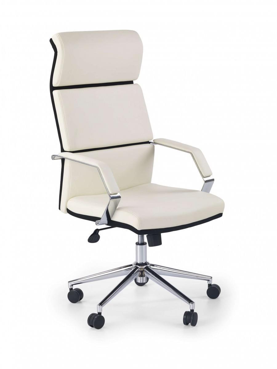 Белое офисное кресло