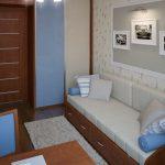 Белый диван в детской