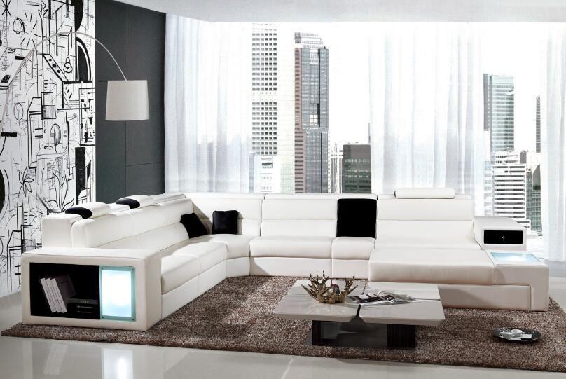 Белый диван в интерьер