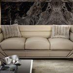 Бежевый диван в стиле хай-тек