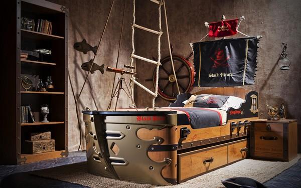Black Pirate кровать с пушками