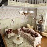 Большая гостиная в стиле прованс