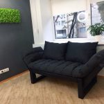 Черный диван в стиле лофт