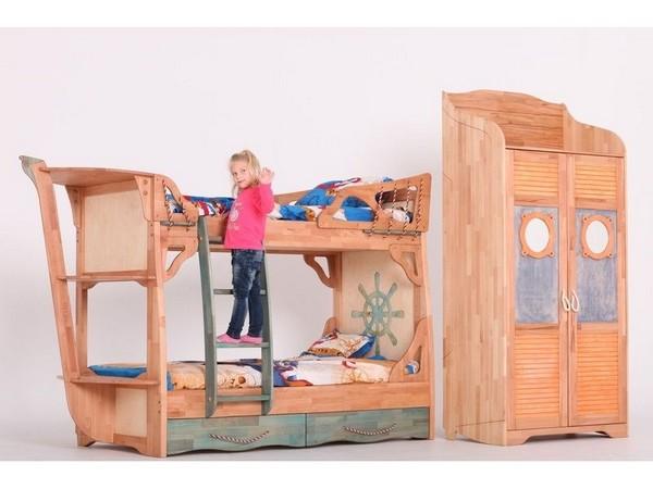 Детская двухъярусная кровать корабль