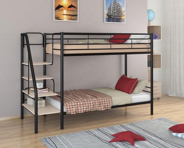 """Кровать """"Толедо"""" с маршевой лестницей"""