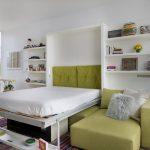 Двуспальная кровать-трансформер в квартире