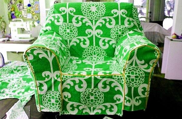 Готовый чехол на кресло