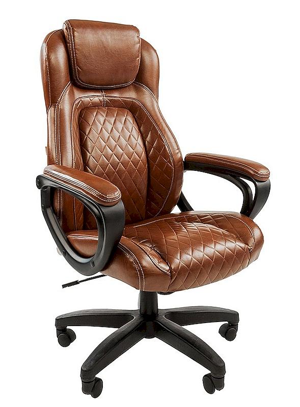 Коричневое офисное кресло