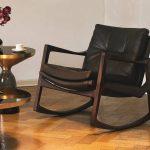 Кожаное кресло-качалка