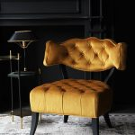 Кресло с необычной спинкой
