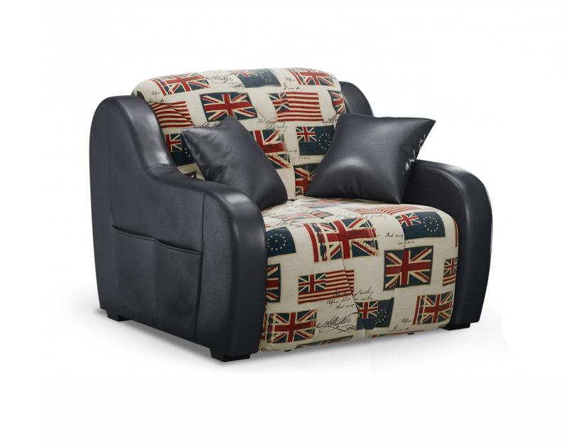 Кресло-кровать с чехлом из жаккарда