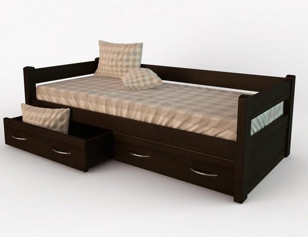 Кровать тахта с 3 выкатными ящиками
