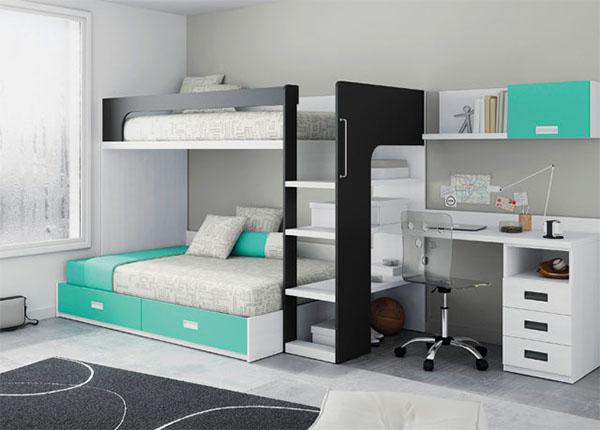 Кровать-чердак с диваном для подростка
