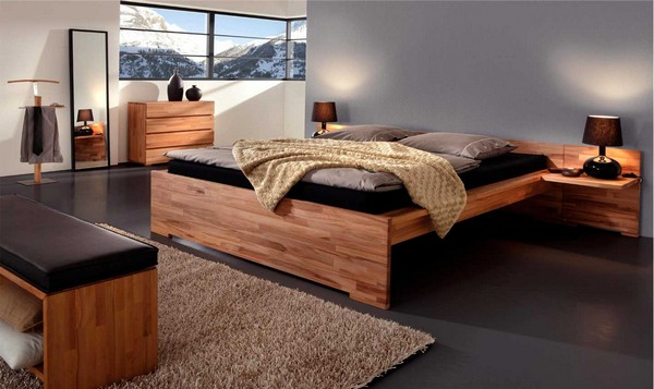 Двуспальная из массива дерева