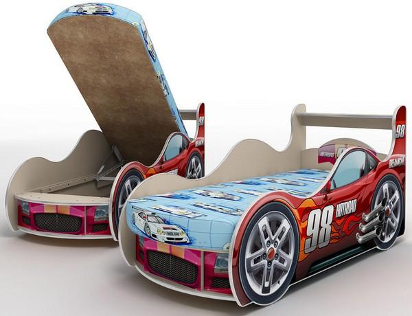 Кровать машина для мальчика с ящиком
