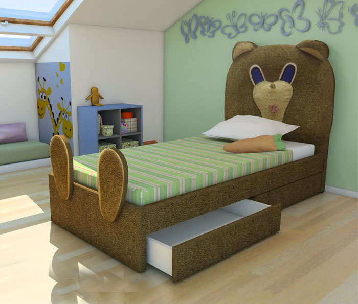 Кровать-мишка
