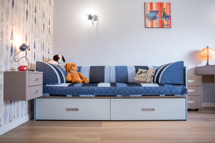 Кровать с мягкими бортиками