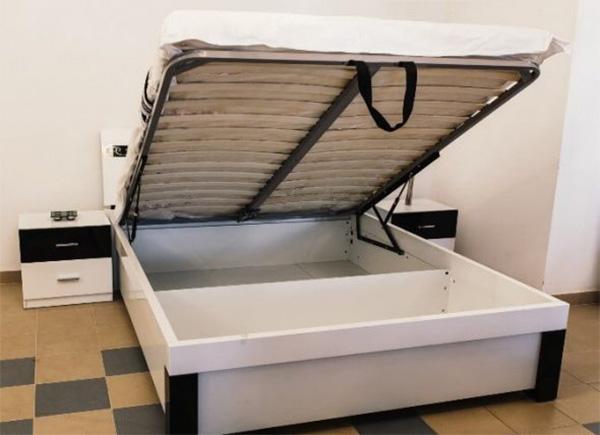 Кровати с подъемным механизмом и ящиками для белья