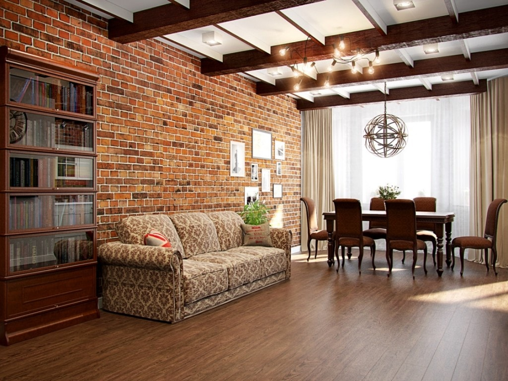 Маленький диван в большом помещении