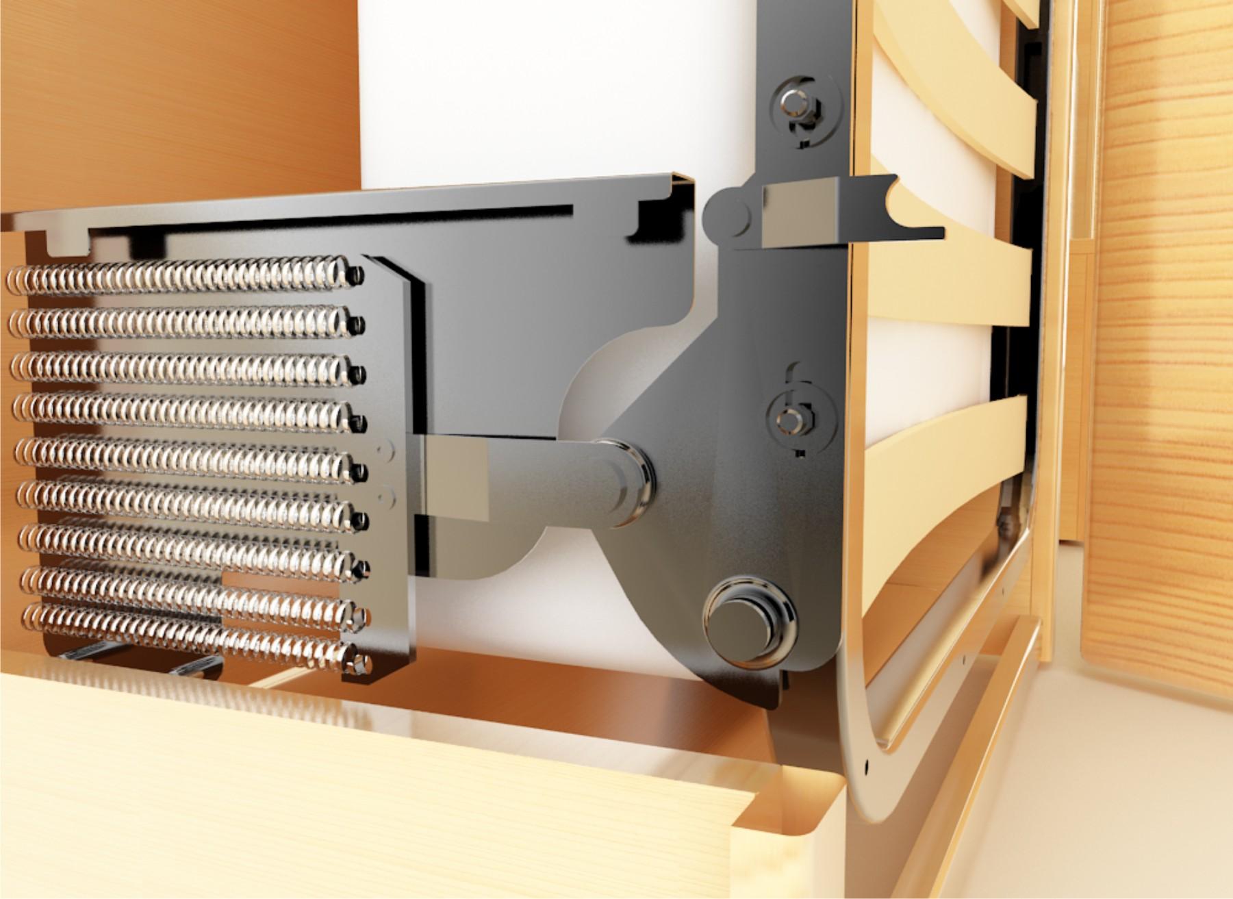 Механизм подъема встроенной кровати