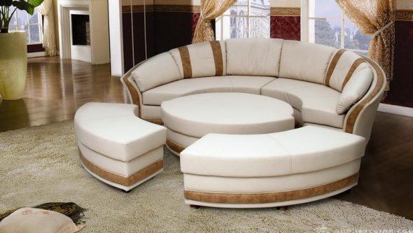 Механизм трансформации круглого дивана
