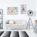Модный белый диван