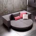 Модульный круглый диван